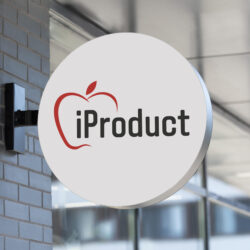 логотип iProduct, Apple, логотип Apple техники, разработка логотипа, заказать логотип, разработка логотипов, дизайнер Тернополь