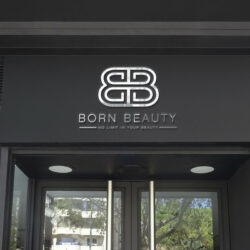 логотип Born Beauty, дизайн логотипа студии красоты, дизайн лого, дизайнер лого, графический дизайнер Тернополь, дизайнер Тернополь