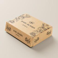 Коробка на коробку для бомбочек, дизайн коробок, дизайн упаковки, графический дизайнер Тернополь