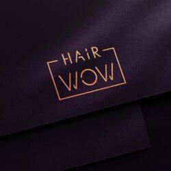 логотип Hair Wow, салон красоты, логотип для салона красоты, дизайнер логотипов, дизайн логотипа, заказать дизайн лого, дизайнер Тернополь