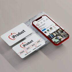 визитка Apple, визитка iProduct, визитка техника, разработка визиток, заказать разработку визитки, заказать визитку, дизайнер Тернополь
