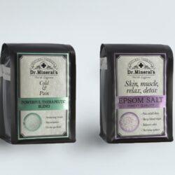 этикетки для солей dr.Mineral's. Разработка этикеток