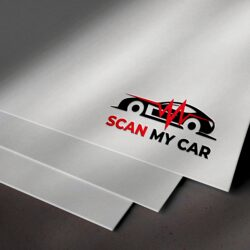логотип Scan My Car, дизайн логотипа, дизайн лого, заказать дизайн лого, графический дизайнер Тернополь